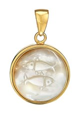 Asha Women's Zodiac Mother Of Pearl Charm Pisces