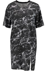 Zoe Karssen Printed Modal And Cotton Blend Mini Dress Gray