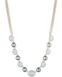 Dkny Gold Tone Crystal And Stone Collar Necklace 16 3 Extender Created For Macy's