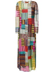 Missoni Striped Squares Maxi Dress Multicolour
