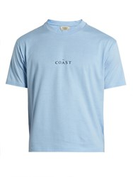 Everest Isles Coast Cotton Jersey T Shirt Light Blue