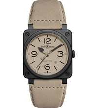 Bell And Ross Aviation Br 03 92 Ceramic Desert Type Watch Beige