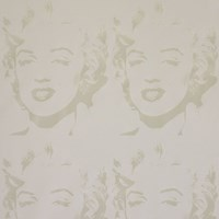 Flavor Paper Andy Warhol X Marilyn Reversal Wallpaper Sample Swatch White On Mica Clay Coated Sample
