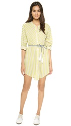 Line Dry Boyfriend Tunic Dress Yellow Stripe