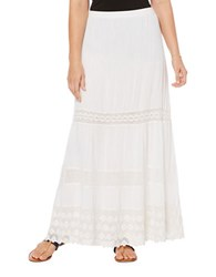 Rafaella Petite Cotton Maxi Skirt White