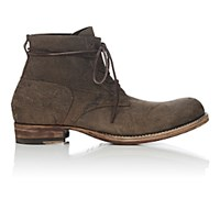 Peter Nappi Men's Leather Lace Up Ankle Boots Dark Brown