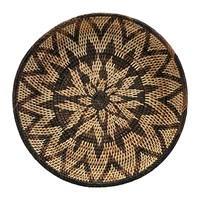 House Doctor Ras Rattan Tray Brown