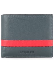 Cerruti 1881 Stripe Detail Bifold Wallet Blue