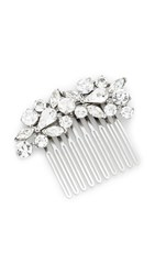 Ben Amun Crystal Cluster Hair Comb Clear Silver