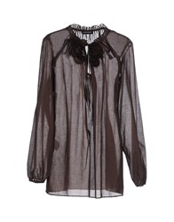 Diana Gallesi Shirts Blouses Women Dark Brown