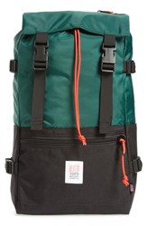 Topo Designs Men's Rover Backpack Green Forest Black