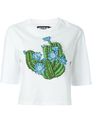 House Of Holland Cactus Crop T Shirt White