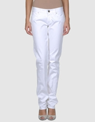 Camouflage Ar And J. Casual Pants White