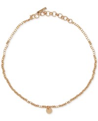 Nine West Beaded Choker Necklace Gold
