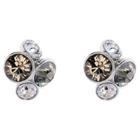Ted Baker Lynda Swarovski Crystal Cluster Stud Earrings Silver