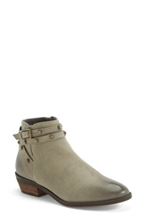 Halogen 'Lidia' Studded Leather Ankle Bootie Women Grey Oiled Leather