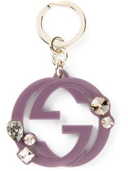 Gucci Logo Keyring Pink And Purple