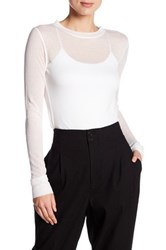 Dkny Extra Long Sleeve Rib Shirt White