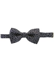 Etro Embroidered Bow Tie Blue