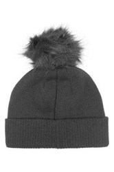 Topman Bobble Knit Beanie Black