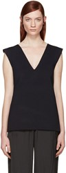 Dion Lee Navy Bandage Back Tank Top