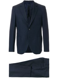 Massimo Piombo Mp Checked Two Piece Suit Blue