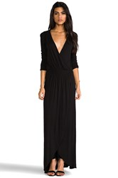 Lamade 3 4 Sleeve Surplus Jersey Maxi Dress Black