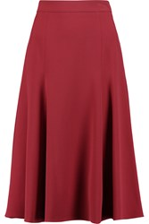 Dolce And Gabbana Fluted Stretch Crepe Skirt Red