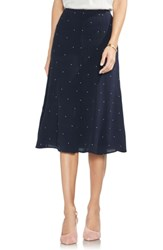 Vince Camuto Soho Pindot A Line Skirt Classic Navy