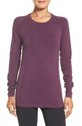 Zella Women's 'Chamonix' Long Sleeve Seamless Tee Purple Gem Heather