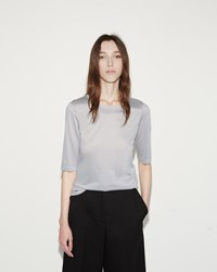 Jil Sander Cotton Modal Tee Light Grey
