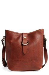 Frye Amy Leather Crossbody Bag Brown Cognac