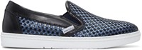 Jimmy Choo Blue Satin Star Grove Slip On Sneakers