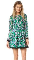 Shoshanna Taber Dress Emerald Multi