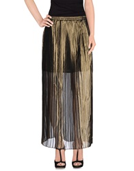 Michael Michael Kors Long Skirts Gold