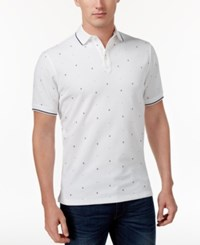 Club Room Men's Classic Fit Anchor Dot Polo Only At Macy's Bright White