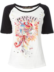 Roberto Cavalli Embroidered Experience '97 T Shirt White