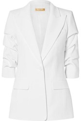 Michael Kors Collection Ruched Crepe Blazer White