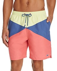 Vineyard Vines Color Block Burgee Bungalow Board Shorts Multi