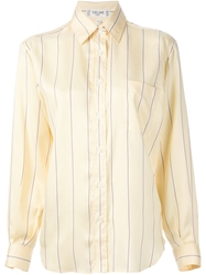 Celine Vintage Striped Shirt Yellow And Orange