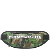 A.P.C. Camo Stitch Cross Body Bag Green