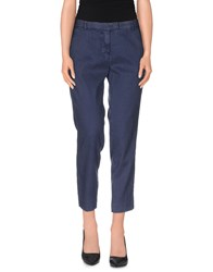 Mason's Trousers Casual Trousers Women Dark Blue