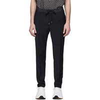 Dolce And Gabbana Black Stretch Wool Jogging Trousers