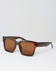 Missguided Oversized Tortoiseshell Sunglasses Brown