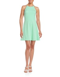 Design Lab Lord And Taylor Fit And Flare Halter Dress Mint