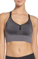 Nike Women's Seamless Dri Fit Sports Bralette Black Dark Grey Black