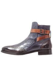 Melvin And Hamilton Tom 14 Boots Remo Dark Brown Navy Dark Blue