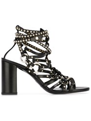 Balmain Studded Sandals Black