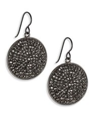 Nest Hematite Pave Drop Earrings