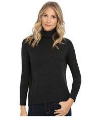 Michael Stars Cashmere Blend Long Sleeve Turtleneck Charcoal Women's Sweater Gray